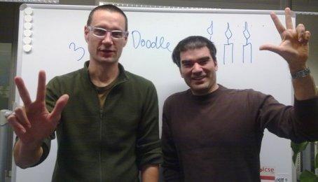 Doodle founders Myke Näf and Paul Sevinç today